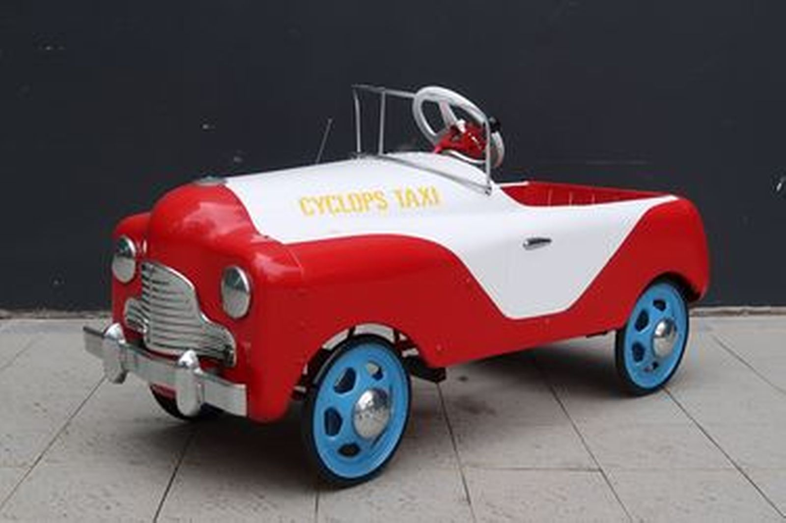 Pedal Car - c1950 Cyclops Taxi Car