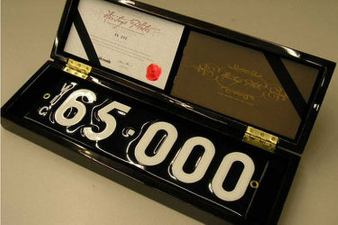 Number Plates - Victorian Numerical Number Plates - '65.000'
