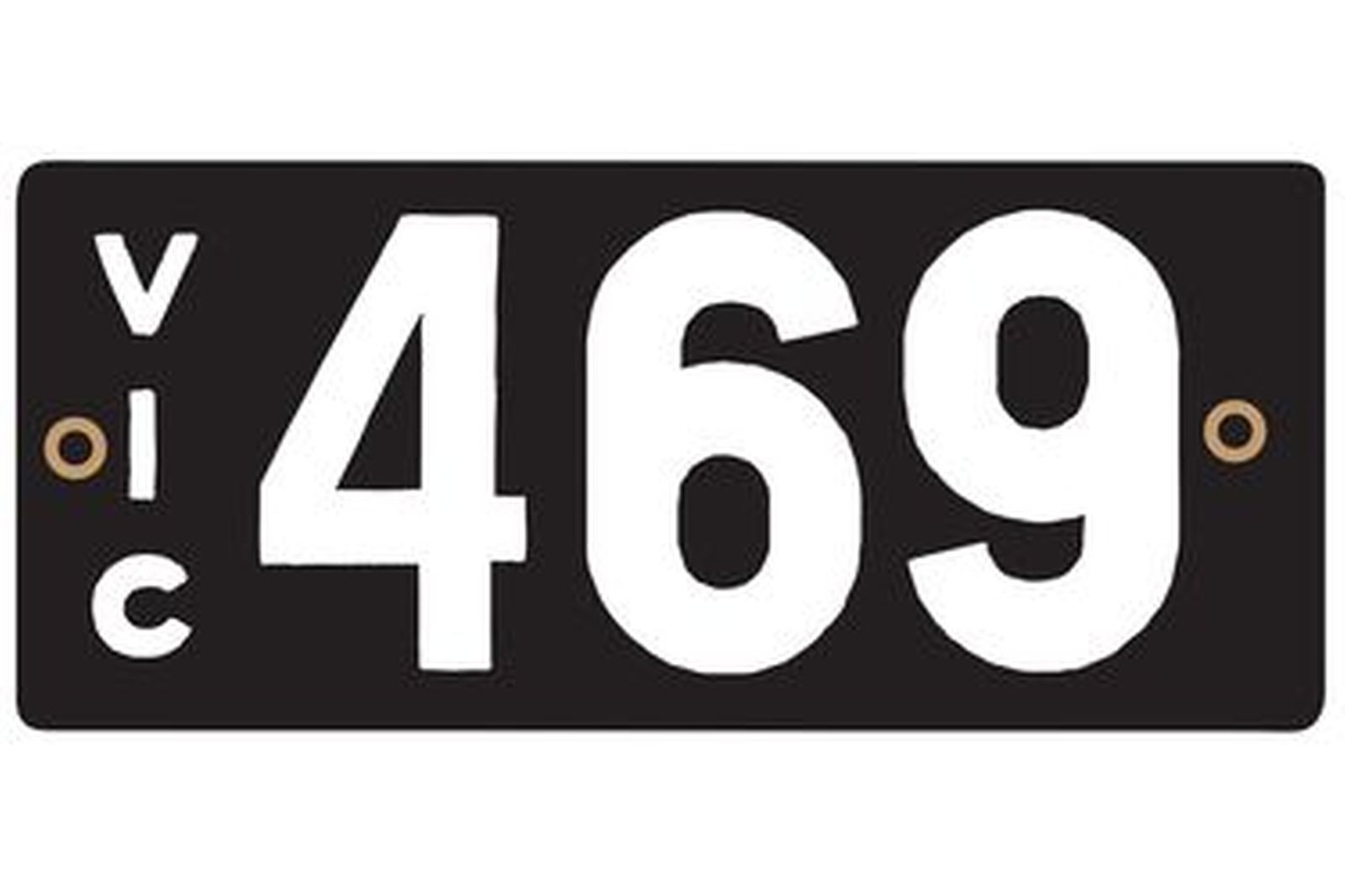Victorian Heritage Number Plates '469'