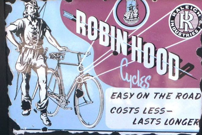 Enamel Sign - Robin Hood Cycles Sign (60cm x 45cm)