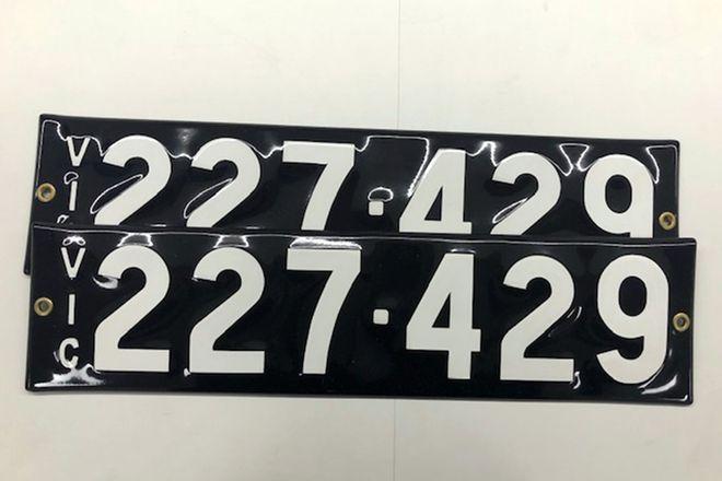 Victorian Heritage Number Plates  '227.429'
