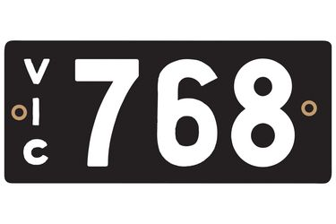 Victorian Heritage Numerical Number Plate - 768