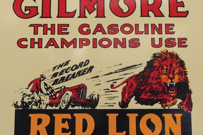Sign - Gilmore Gasoline (Reproduction) (80cm x 56cm)