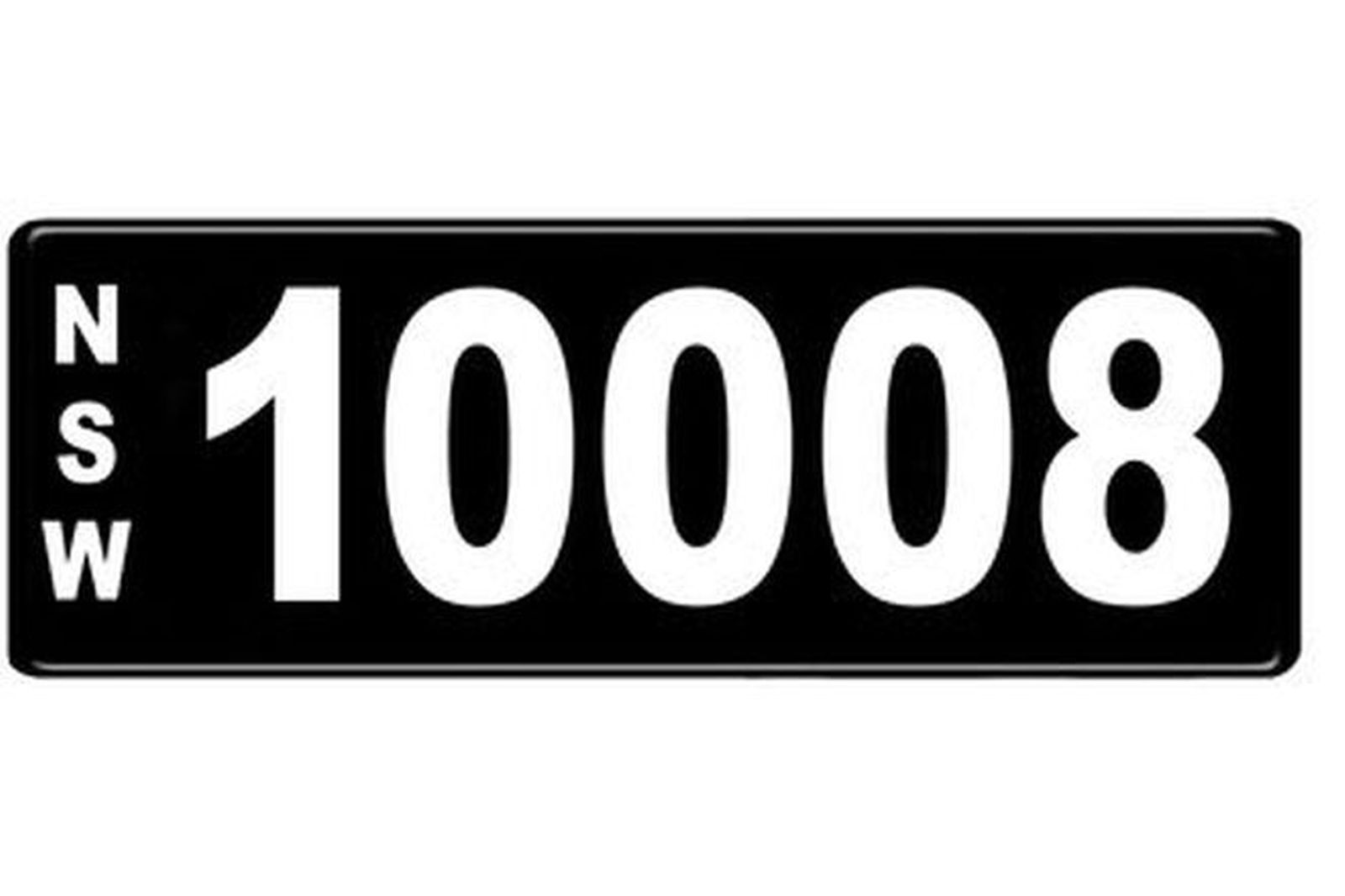 Number Plates - NSW Numerical Number Plates '10008'