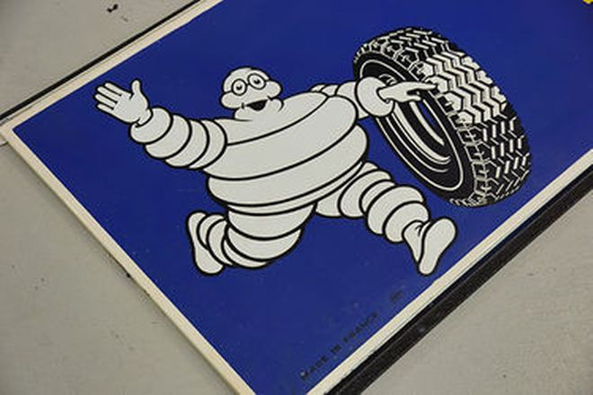 Enamel Sign - Michelin large two-piece (292 x 75cm)