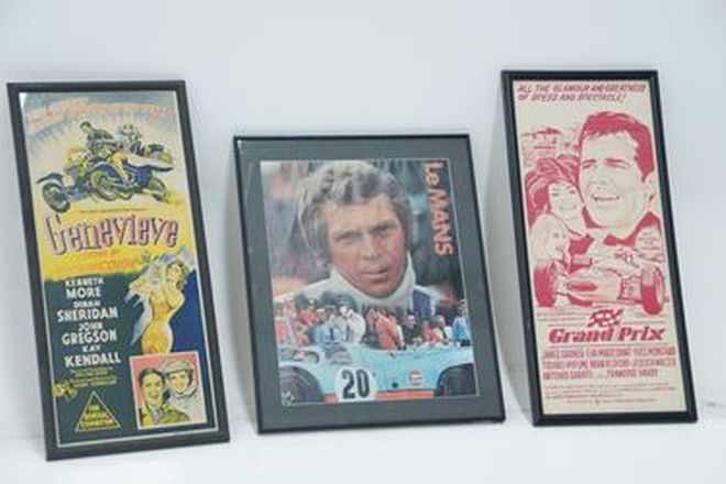 Framed Prints - Movie related Prints - Genevieve, LeMans & Grand Prix