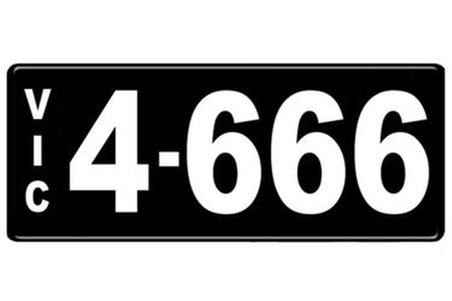 Number Plates - Victorian Numerical Number Plates '4.666'