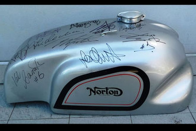 Signed Bike Fuel Tank
