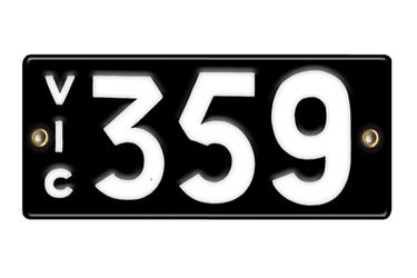 Victorian Number plates '359'