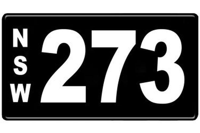 Number Plates - NSW Numerical Number Plates '273'