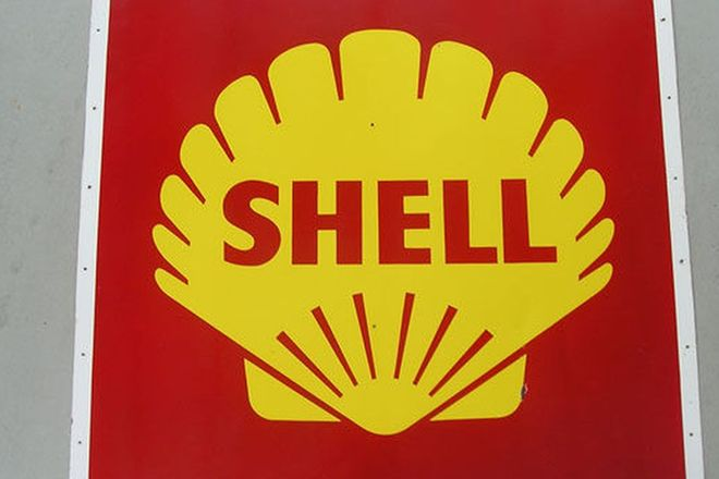 Enamel Sign - Shell Service Station c1950's (4