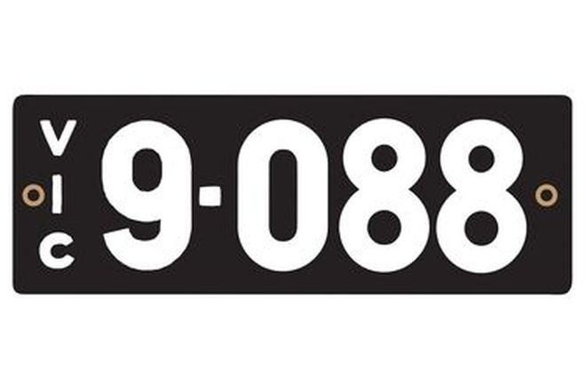 Victorian Heritage Numerical Number Plates '9.088'