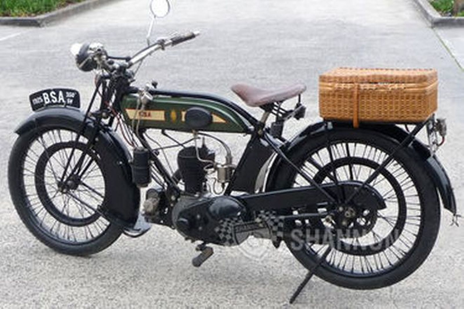Sold bsa 350cc sv solo motorcycle auctions lot 7 shannons for Motor vehicle open on saturday