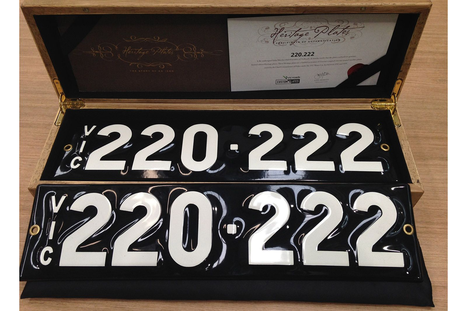 Victorian Numerical Heritage Plate - '220.222'