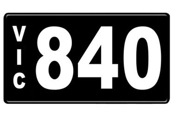Number Plates - Victorian Numerical Number Plates '840'