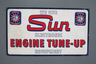 Tin Sign - Sun Engine Tune-up (55 x 95cm)