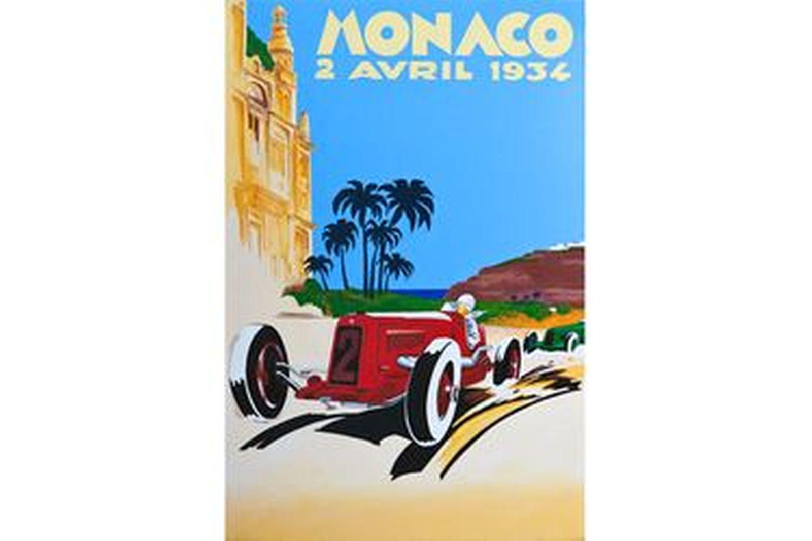 Framed Monaco Print 1934