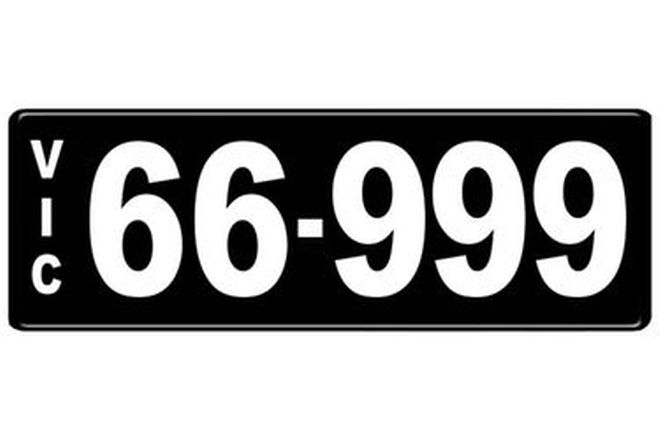 Number Plates - Victorian Numerical Number Plates '66.999'