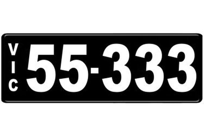 Number Plates - Victorian Numerical Number Plates '55.333'