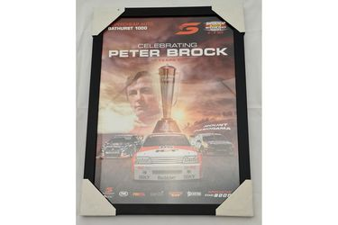 'Celebrating Peter Brock - 10 years on' Framed Poster (468W x 642H)