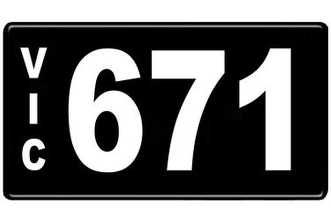 Number Plates - Victorian Numerical Number Plates '671'