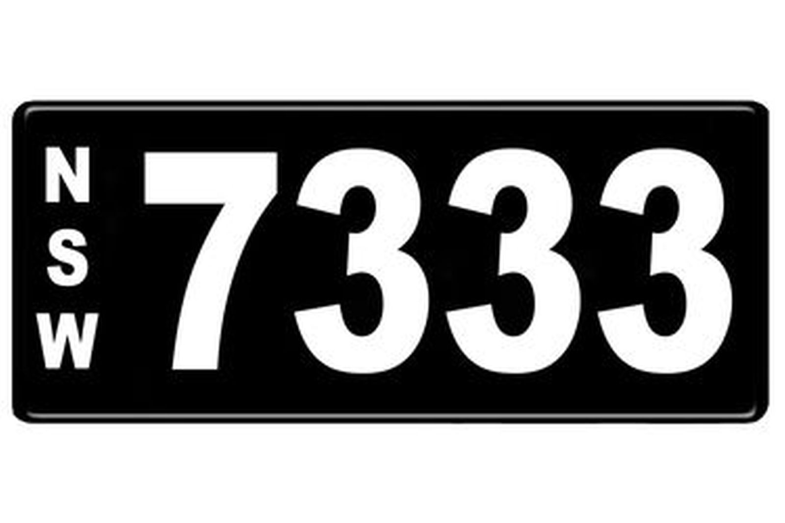 NSW Numerical Number Plates '7333'