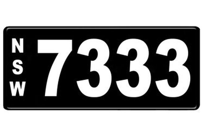 NSW Numerial Number Plates '7333'