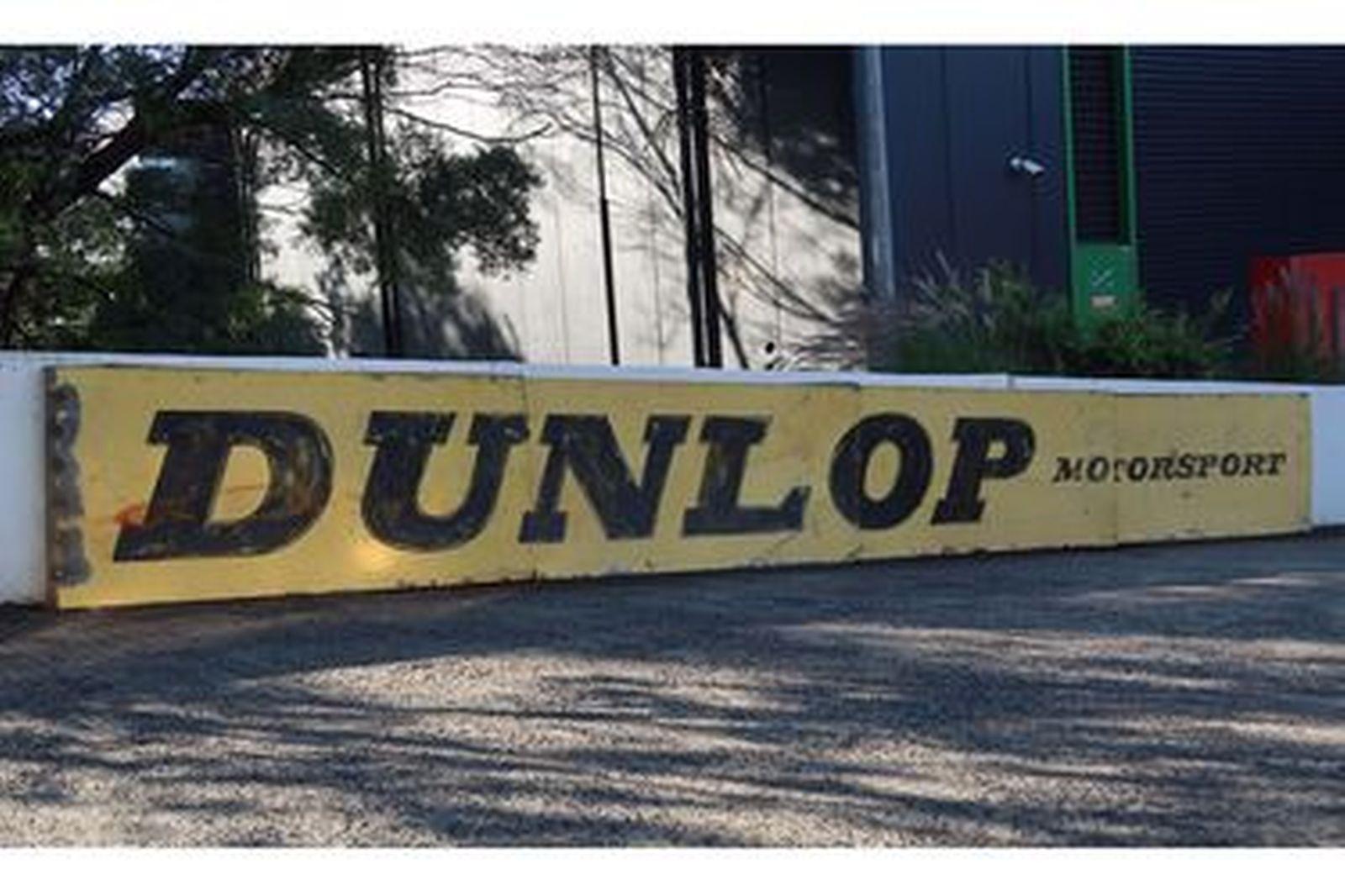 Tin Sign - 'Dunlop Motorsport' (7.4 x 0.85m)