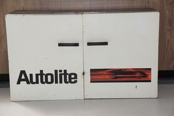 Cabinet - Autolite 2 Door White Cabinet (83 x 50 x 30cm)