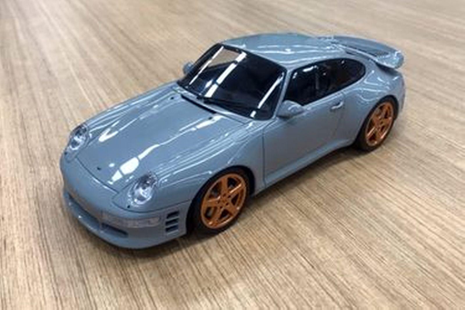 Model Car - Porsche GT145 RUF Turbo Limited Grey - GT Spirit  (Scale -1:18)
