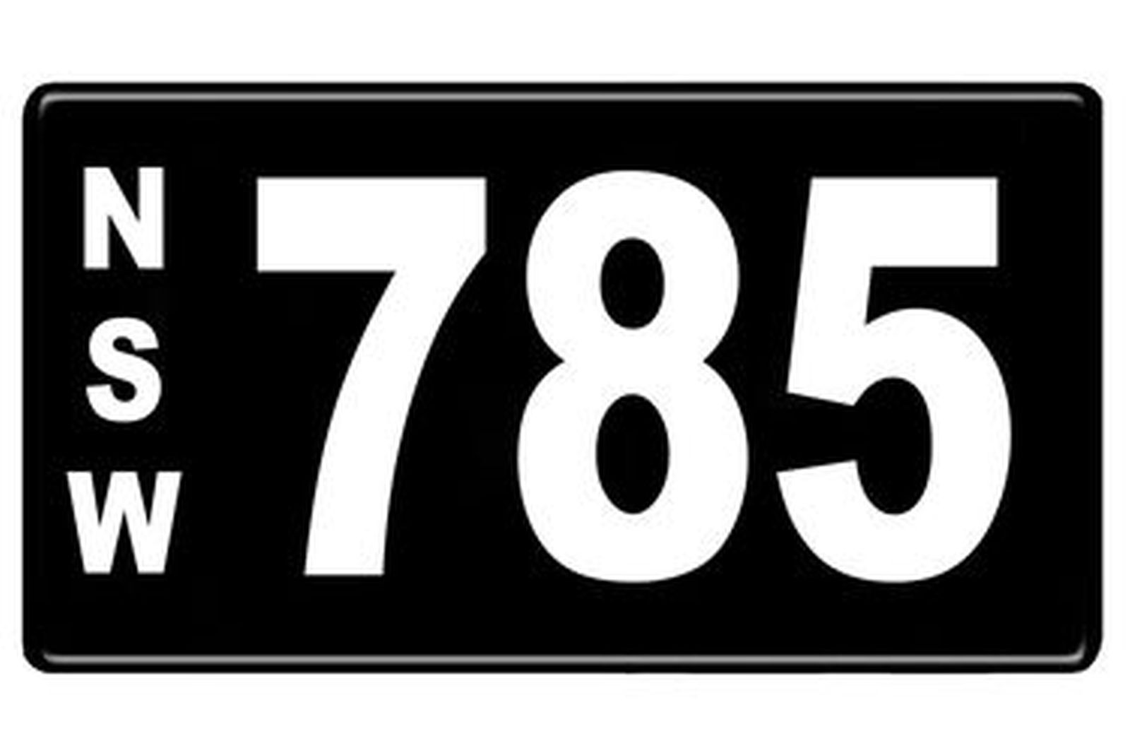 Number Plates - NSW Numerical Number Plates '785'