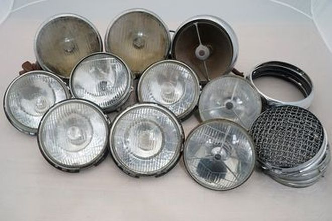 Head Lights x 10  - Assorted Head Lights with 5 Stone Guards