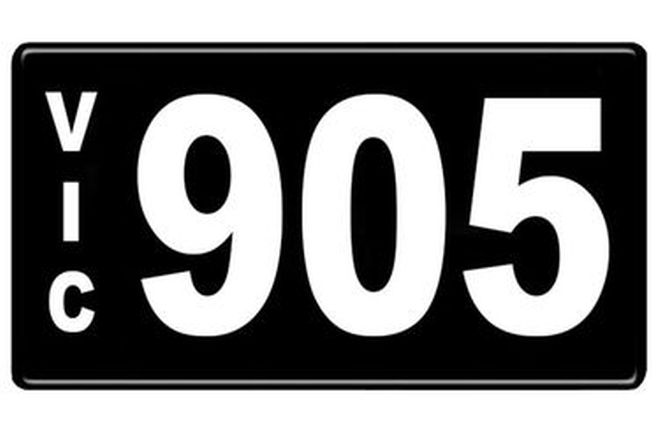 Number Plates - Victorian Numerical Number Plates '905'