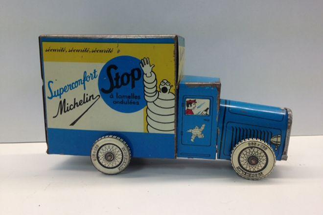 Vintage Tin Michelin Delivery Van