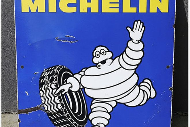 Enamel Sign - Michelin  (65cm x 65cm)