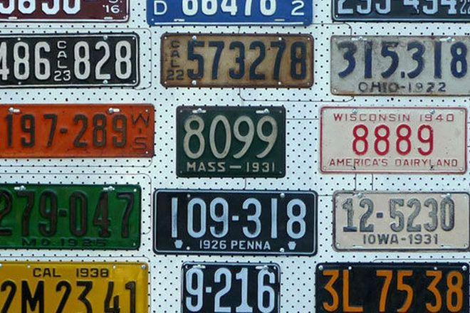 Number Plates - 15 USA Number plates