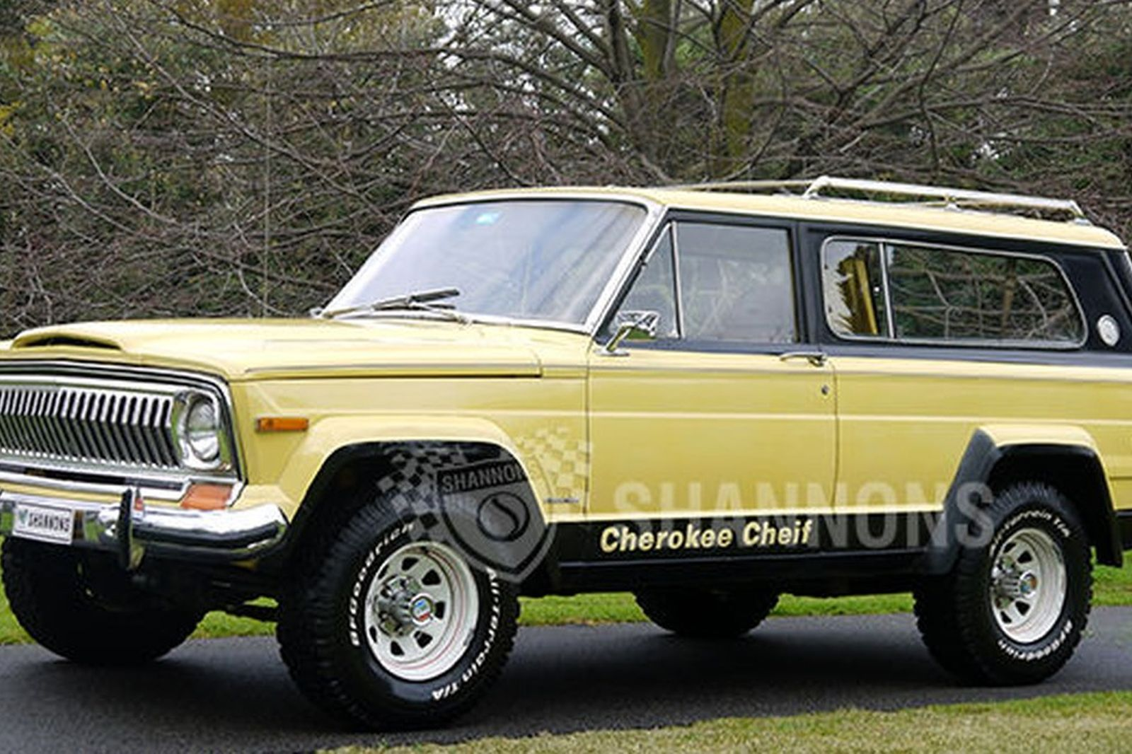sold: jeep cherokee chief wagon (rhd) auctions - lot 22 - shannons