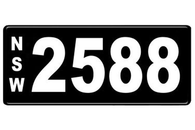 Number Plates - NSW Numerical Number Plates '2588'