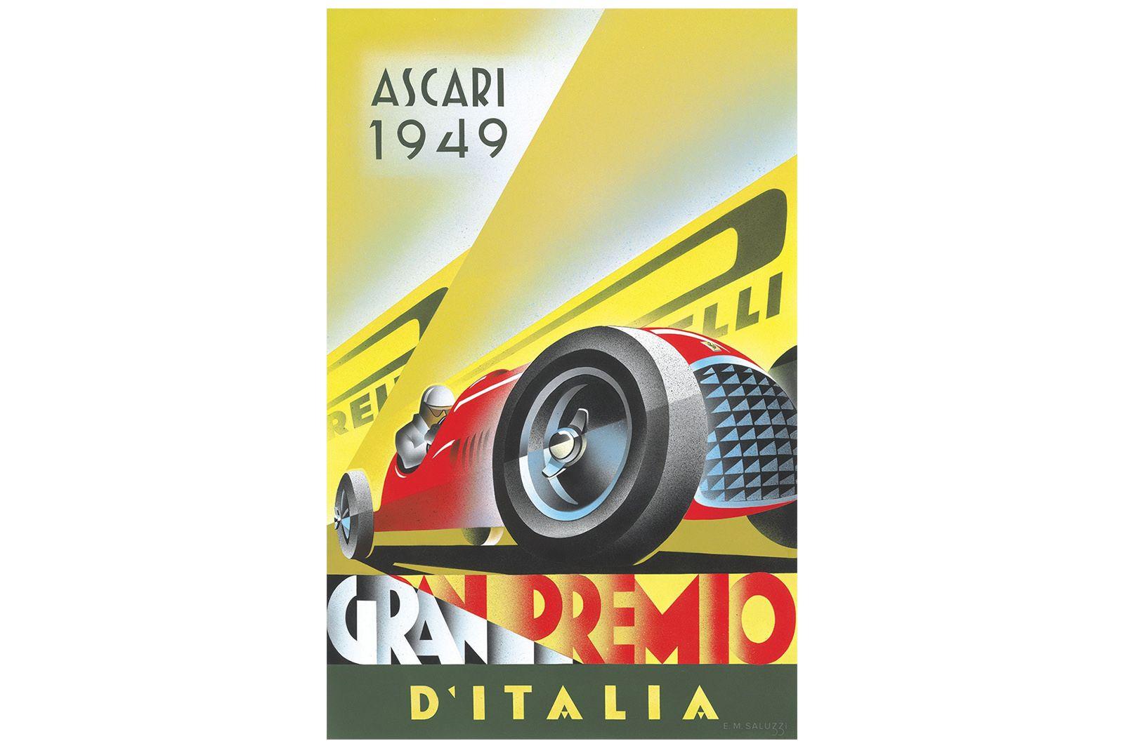Vinyl Poster - ASCARi 1949 Grand Prix Poster (1.3m by 2m)