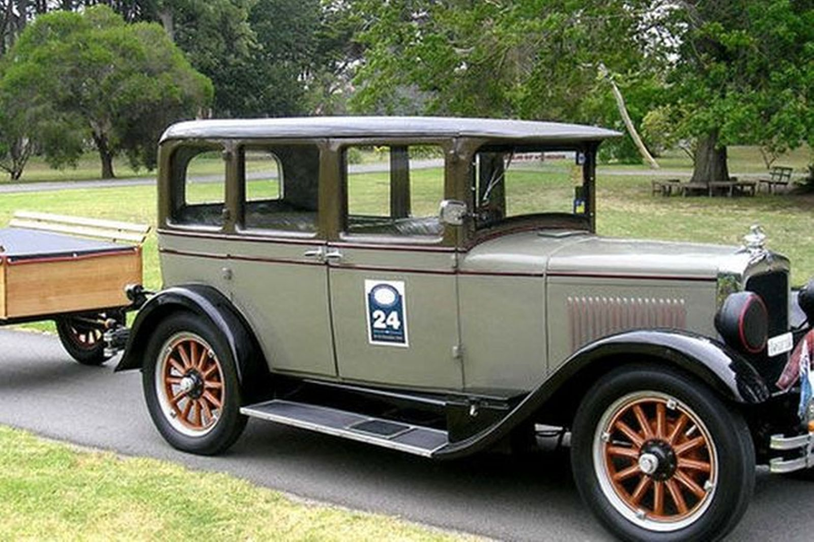 sold studebaker erskine sedan with matching trailer