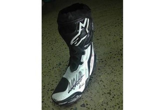 Miguel Oliveira #44 Signed Boot LF