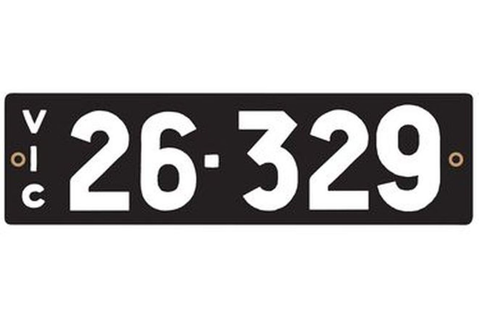 Victorian Heritage Numerical Number Plate - 26.329