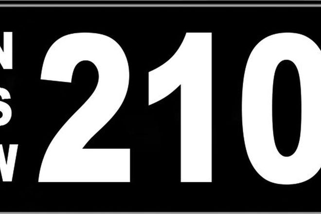 Number Plates - NSW Numerical Number Plates '210'