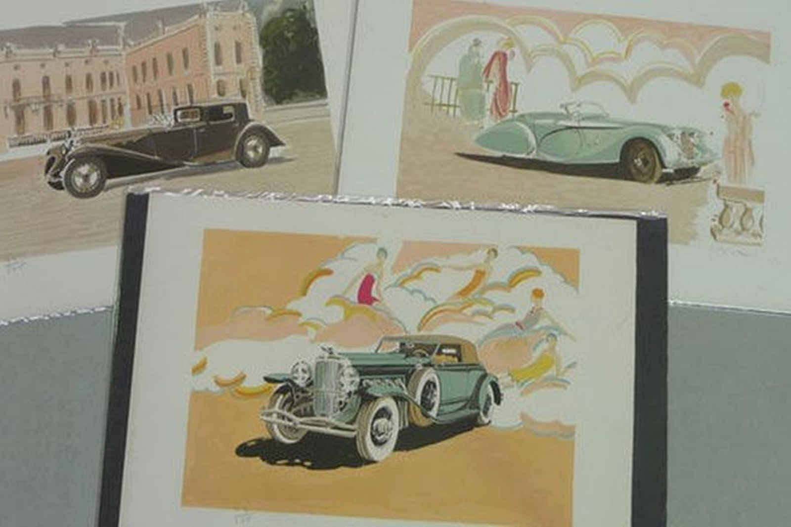 Prints - 3 x Art Deco Numbered Prints signed by artist (760 x 530mm)