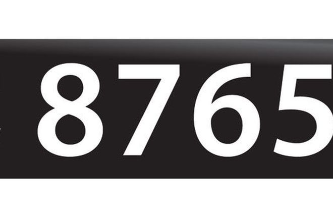 RTA NSW Numerical Number Plates '8765'