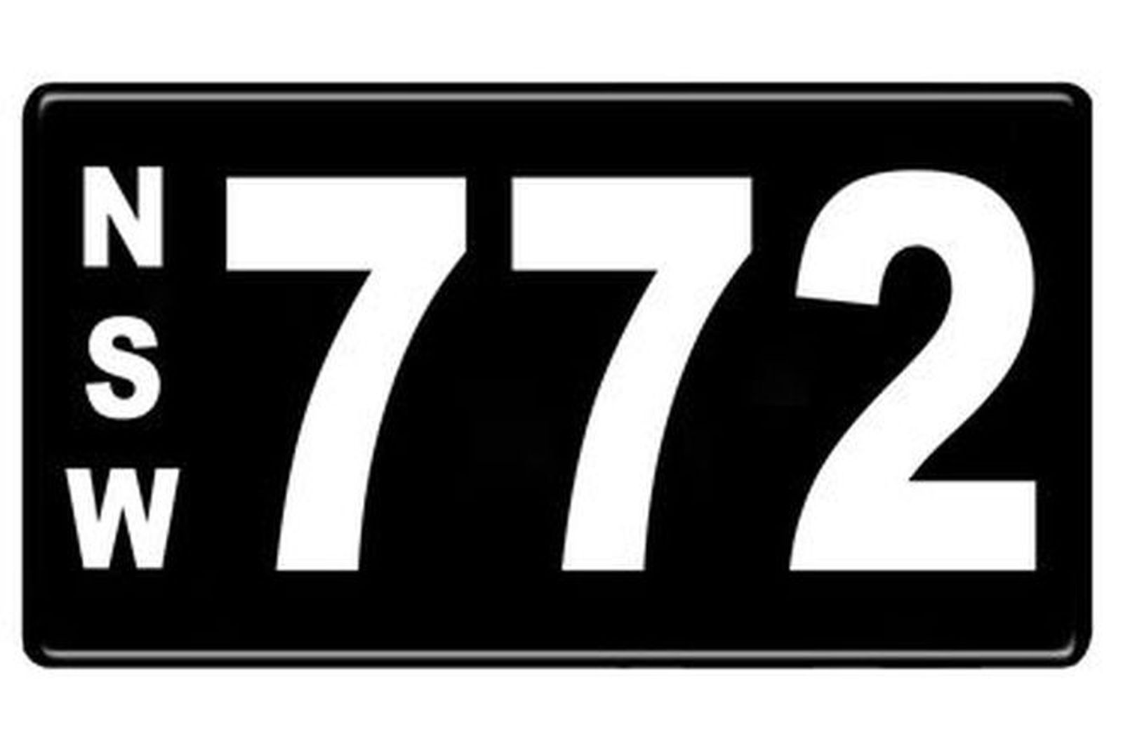 Number Plates - NSW Numerical Number Plates '772'