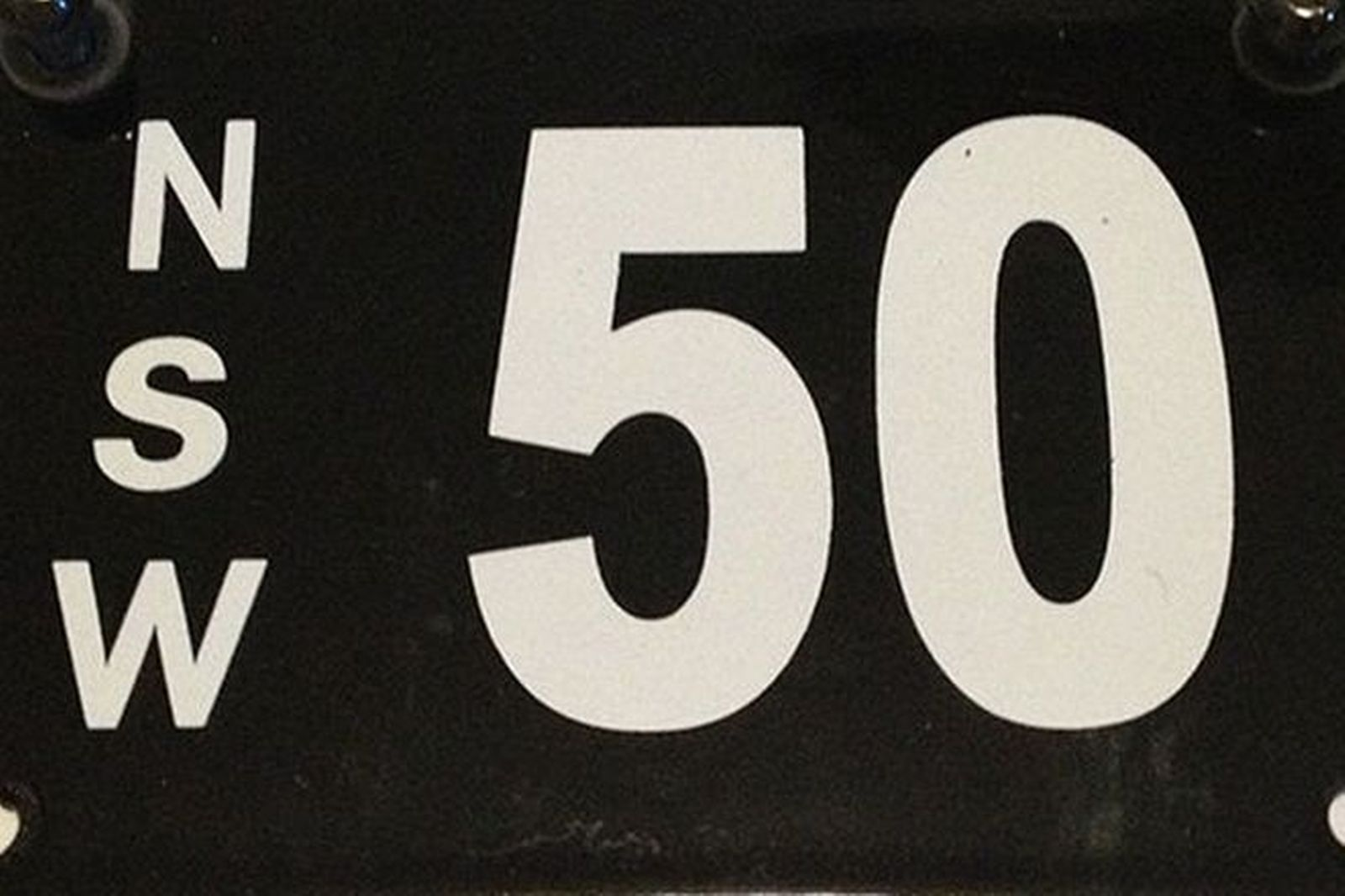 Number Plates - NSW Numerical Motorcycle Plates '50'
