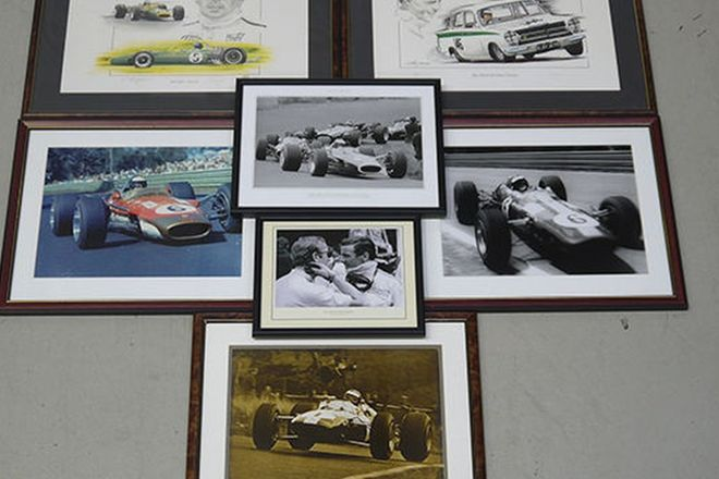 Framed Photos x 7 - Jim Clark Racing Prints and Photos