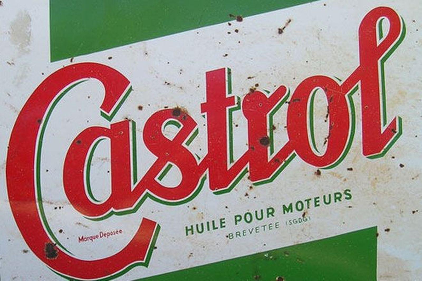 Enamel Sign - Castrol 'Oil for Motors' (4' x 2.5')