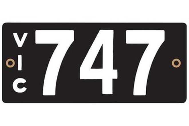 Victorian Heritage Plate '747'